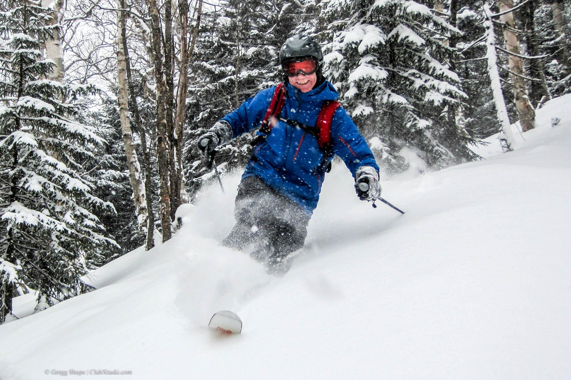 Jim Skiing Powder at Sugarbush